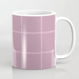 French Pink Linen Check Coffee Mug