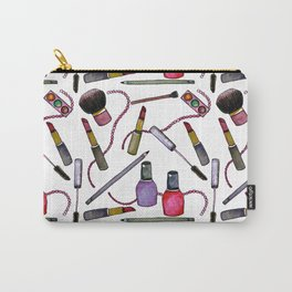Watercolor Eyes Lips Nails - repeat pattern Carry-All Pouch