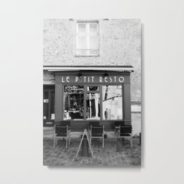 Le P'tit Resto  //  France - travel photography Metal Print