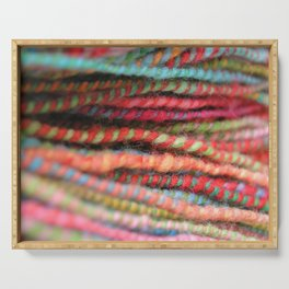 Handspun Yarn Color Pattern by robayre Serving Tray