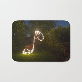 The Long Necked Dachshund in pursuit of shooting stars Bath Mat