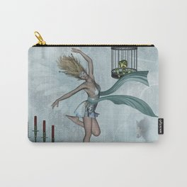Dancing fairy with swan Carry-All Pouch
