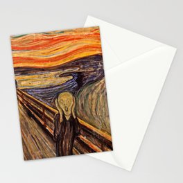 Edvard Munch  -  The Scream Stationery Cards