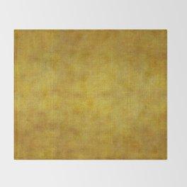 """Gold & Ocher Burlap Texture"" Throw Blanket"