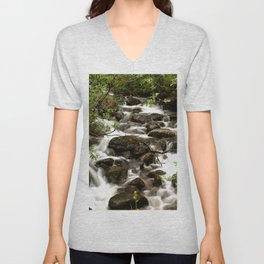 Mountain Creek - Summer Scene #decor #society6 #buyart Unisex V-Neck