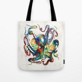 Colorful Octopus Art by Sharon Cummings Tote Bag