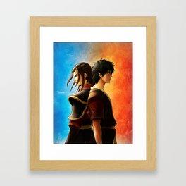 Azula and Zuko Framed Art Print