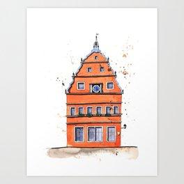 whimsical house in Germany Art Print