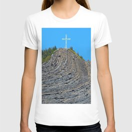Bent rock Mountain cross T-shirt