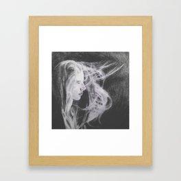 girl in the wind Framed Art Print