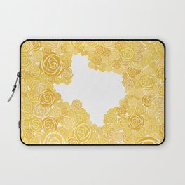Texas Yellow Rose Outline Laptop Sleeve