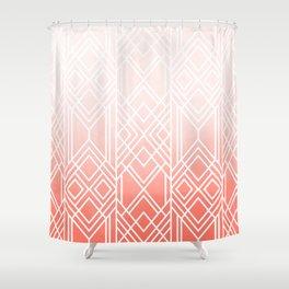 Art Deco Fading Peach Shower Curtain