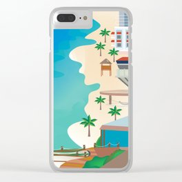 Cancun, Mexico - Skyline Illustration by Loose Petals Clear iPhone Case