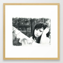 Girl with the Clothes Line Framed Art Print
