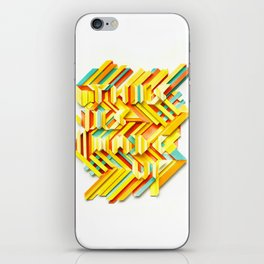 This Is Made Up #3 iPhone Skin