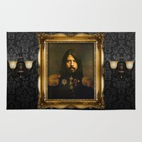 british Area & Throw Rugs featuring Dave Grohl - replaceface by replaceface