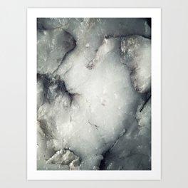 Quartz Rock Art Print