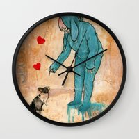 will graham Wall Clocks featuring GRAHAM CRACKERS by RAGING BUNNIES