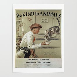 Be Kind To Animals 1 Poster
