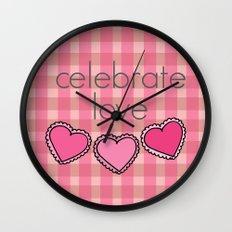 Celebrate Love! Wall Clock