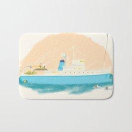 Let Me Tell You About My Boat - The Belafonte Boat Art - The Life Aquatic Steve Zissou Art Bath Mat