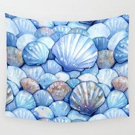 Sea Shells Aqua Wall Tapestry