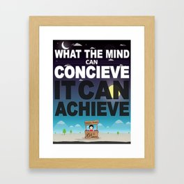 Mind Poster Framed Art Print