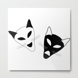 Drama Cats Metal Print