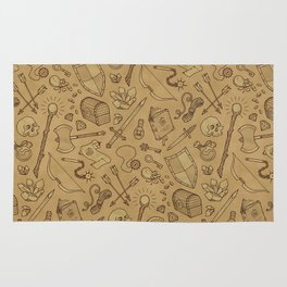 Inventory in Sepia Rug