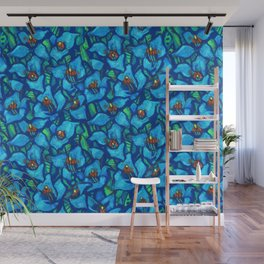Blue Puya, Abstract Floral, Tropic Fowers Wall Mural