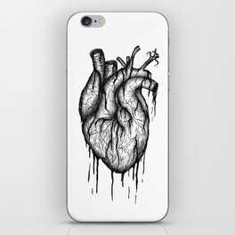 Bleeding Heart - A3 Ink illustration iPhone Skin