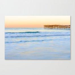 Pacific Beach Dawn Photograph by Priya Ghose Canvas Print