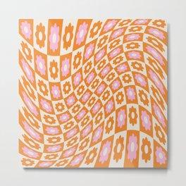 Groovy Twist Pattern Metal Print