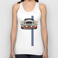 martini Tank Tops featuring Martini Mustang by Marius Dumitrascu