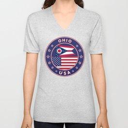 Ohio, USA States, Ohio t-shirt, Ohio sticker, circle Unisex V-Neck