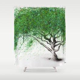 Green Breeze Tree Shower Curtain