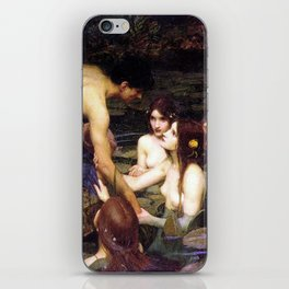 Hylas and the Nymphs,  John William Waterhouse iPhone Skin