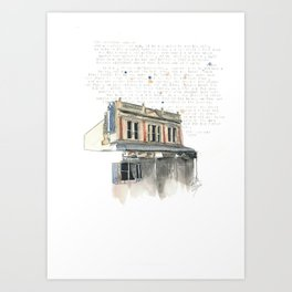 133 Ridiford Street, Wellington Art Print