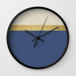 Navy And Glitter Wall Clock