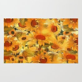 Sunshine Floral Abstract Rug
