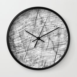 Cracks in timber Textures 3 Wall Clock
