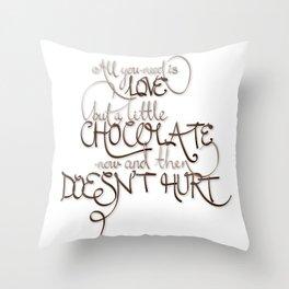 A Little Chocolate Throw Pillow