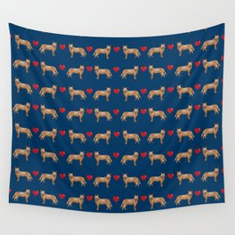 Australian Cattle Dog red heeler hearts love dog breed gifts cattle dogs Wall Tapestry