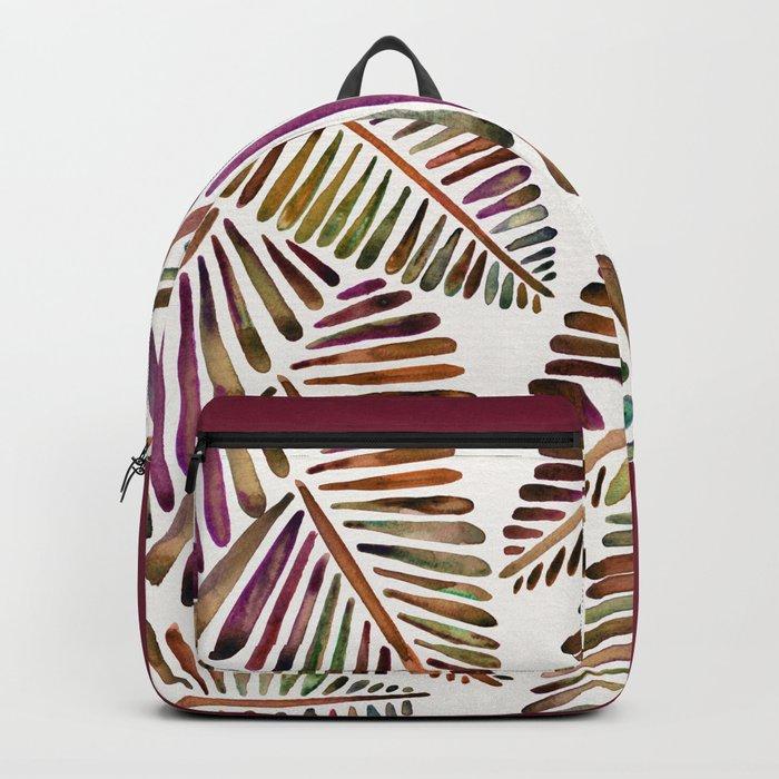 Tropical Banana Leaves – Vintage Palette Backpack