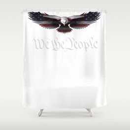 American Patriot Freedom Eagle USA Flag T-Shirt Shower Curtain