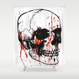 Skull | Skull head | Human skull | Skull love | Goth aesthetic | Bones | Skull decor | Skull design Shower Curtain