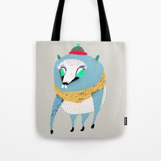 Bear with Hat Tote Bag