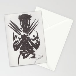 Negative superhero Stationery Cards