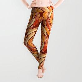 Orange pattern Leggings
