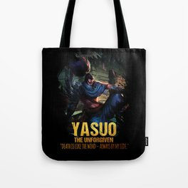League of Legends YASUO - The Unforgiven - video games champion Tote Bag
